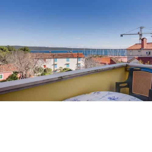 Apartment in Nerezine with sea view, balcony, air conditioning, WiFi (3587-3)