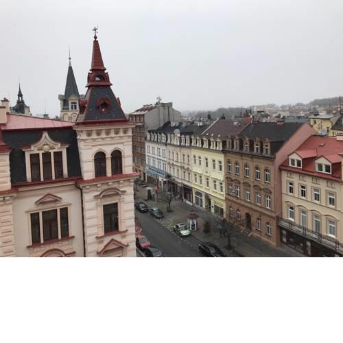City center flat in Karlovy vary with nice view