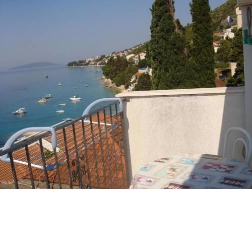 Studio apartment in Brist with Seaview, Balcony, Air condition, WIFI (4333-1)